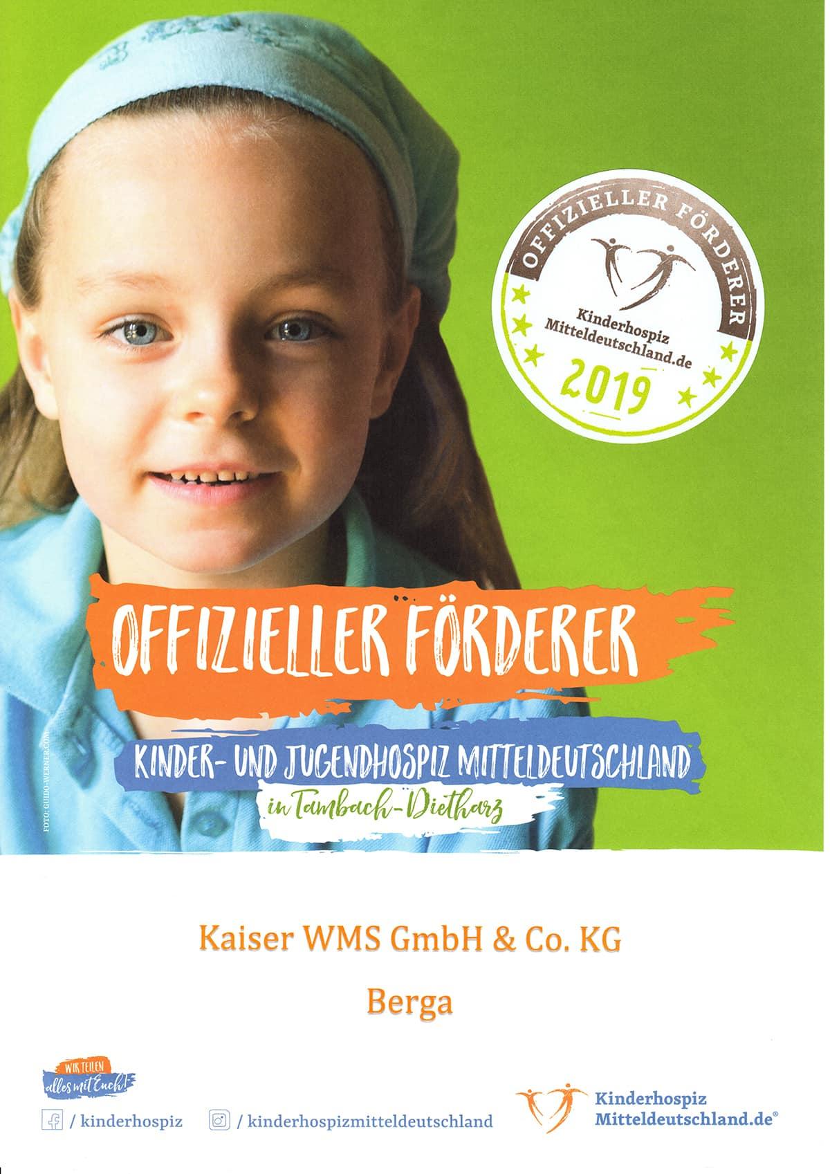 Spende Kinderhospiz Mitteldeutschland 2018