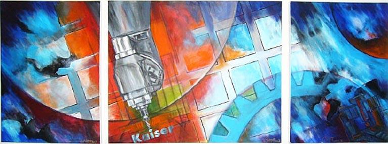Wandbild im Empfang Firma WMS Kaiser Berga
